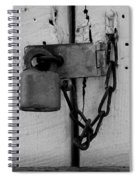 Dark Padlocked Spiral Notebook