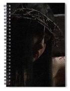 Dark Portrait Of A Female Jesus Spiral Notebook