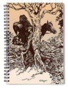 Dark Rider-tolkien Appreciation Spiral Notebook