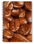Dark Roasted Coffee Beans Spiral Notebook