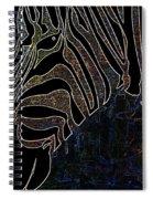Dark Zebra Spiral Notebook