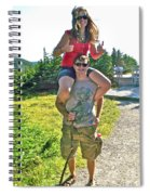 Couple From Saskatchewan On Skyline Trail In Cape Breton Highlands National Park-nova Scotia-canada  Spiral Notebook