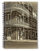 Dashing In Red - Sepia Spiral Notebook