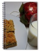 Date Squares - Snack - Dessert - Milk Spiral Notebook