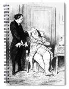 Daumier: Doctor Cartoon Spiral Notebook