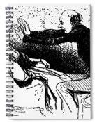 Daumier: The Hypnotist Spiral Notebook