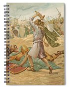 David About To Slay Goliath Spiral Notebook