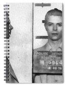 David Bowie Mug Shot Spiral Notebook