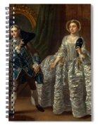 David Garrick And Mrs. Pritchard In Benjamin Hoadley's The Suspicious Husband  Spiral Notebook