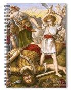 David Slaying Goliath Spiral Notebook
