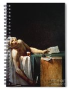 David: The Death Of Marat Spiral Notebook