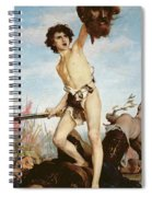 David Victorious Over Goliath Spiral Notebook