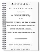 David Walker (1785-1830) Spiral Notebook