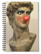 David With Makeup And Clown Nose 1 Spiral Notebook