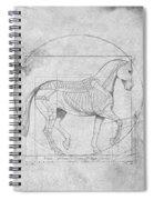Da Vinci Horse Piaffe Grayscale Spiral Notebook