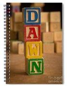 Dawn - Alphabet Blocks Spiral Notebook