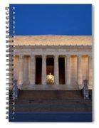 Dawn At Lincoln Memorial Spiral Notebook