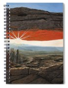 Dawn At Mesa Arch Canyonlands Utah Spiral Notebook