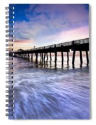 Dawn At The Juno Beach Pier Spiral Notebook