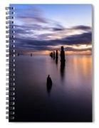 Dawn Breaks Over The Pier Spiral Notebook
