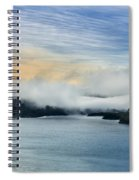 Dawn Fog On Klamath River Spiral Notebook
