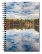 Dawn Reflection Of Fall Colors Spiral Notebook