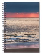 Dawns Red Sky Reflected Spiral Notebook