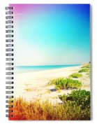 Day At The Beach Photography Light Leaks Spiral Notebook