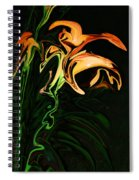 Day Lily At Night Spiral Notebook