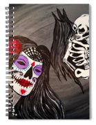 Day Of The Dead Good Vs Evil Spiral Notebook