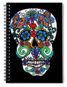 Day Of The Dead Skull Spiral Notebook