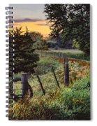 Daybreak Southwest Corner Fenceline Spiral Notebook