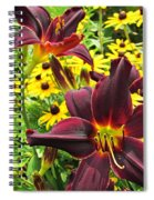 Daylilies And Rudbeckia Spiral Notebook