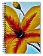Daylily Expressive  Brushstrokes Spiral Notebook