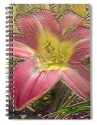 Daylily In Gold Leaf Spiral Notebook