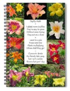 Daylily Math Spiral Notebook