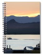 Days End At The Lake Spiral Notebook