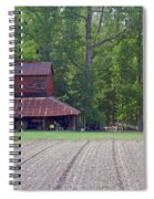 Days Gone By--tobacco Barn Series  Spiral Notebook