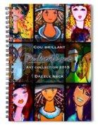 Dazzle Neck Art Collection Spiral Notebook