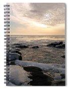 Dazzling Winter On Lake Superior Spiral Notebook