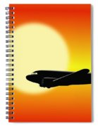 Dc-3 Passing Sun Spiral Notebook
