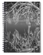 Dead Arch Black And White Spiral Notebook