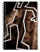 Dead Man Outline On Floor Spiral Notebook