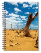 Dead Trees In A Desert Wasteland Spiral Notebook