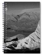 Death Valley Zabriskie Point Bw Img 0525psd Spiral Notebook