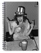 Debbie C. Celebrating July 4th Lincoln Gardens Tucson Arizona 1990 Spiral Notebook