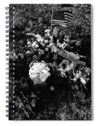 Debbie C's Grave American Flag Evergreen Cemetery Tucson Arizona 1991 Spiral Notebook