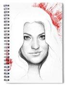 Debra Morgan Portrait - Dexter Spiral Notebook