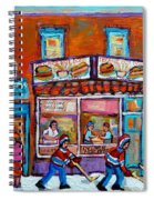 Decarie Hot Dog Restaurant Ville St. Laurent Montreal  Spiral Notebook