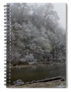 December Morning On The River Spiral Notebook